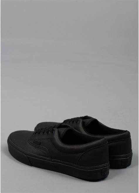 vans era matte leather shoes black triads