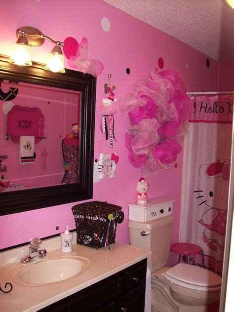 bathroom themes decor hello kitty bathroom i want to do this for the girls