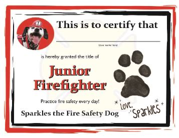 sparkles fire safety skype tour bonus materials