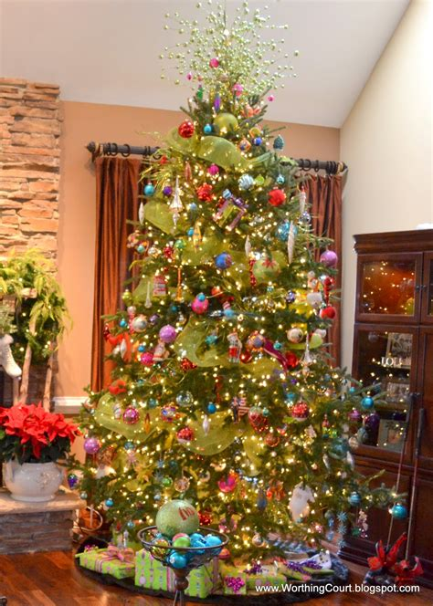 how to decorate a christmas tree with colorful lights at nancy s the living room and dining room worthing court