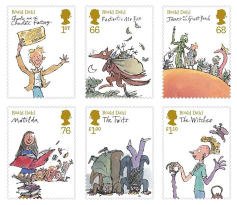 classic roald dahl characters celebrated by set of sts metro news