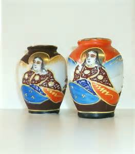 vintage japanese miniature vases made in occupied japan set