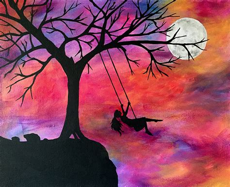 swing painting sunset swing painting workshop at michael s tickets fri
