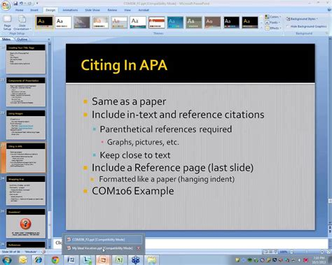 2013 10 01 18 59 Powerpoint Creating An Apa Style Ms How To Use Apa Format In Powerpoint