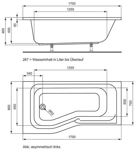 Ideal Standard Connect Playa Dusch Badewanne 170 x 90 cm