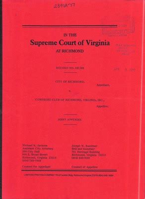 Richmond Va Court Records Virginia Supreme Court Records Volume 239 Virginia Supreme Court Records