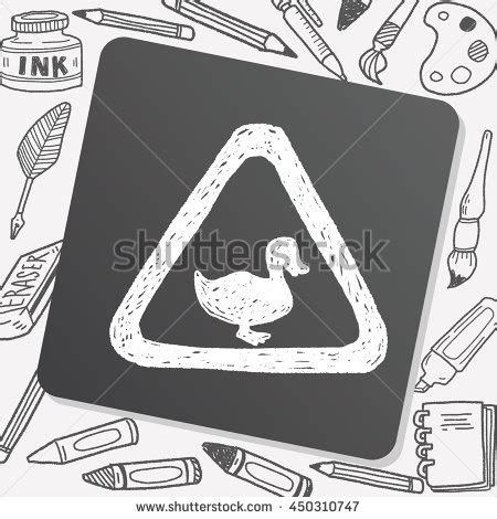 doodle crossing sign crossing duck sign stock images royalty free images