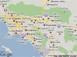 corona california map corona california