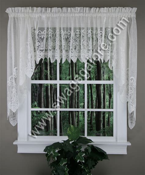 Curtains Valances And Swags Valerie Swag Valance White United Sheer Semi Sheer Valances