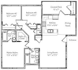 Three Bedroom Floor Plan by 3 Bedroom 2 Bath Floor Plans Marceladick Com