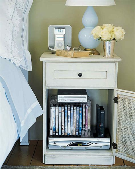 cabinet for dvd player and cable box organizing home technology in your bedroom martha stewart