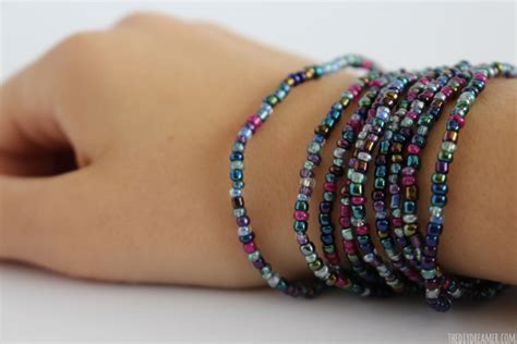 how to make bracelets with beaded wrap bracelet tutorial kid craft