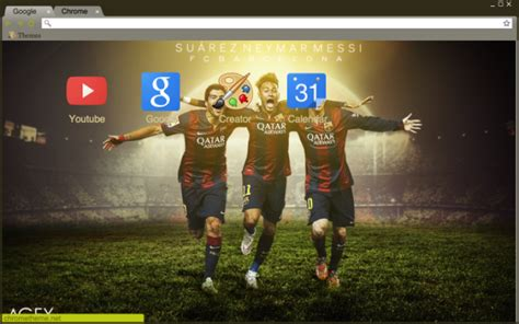 themes google chrome barcelona messi suarez and neymar theme chrome theme themebeta