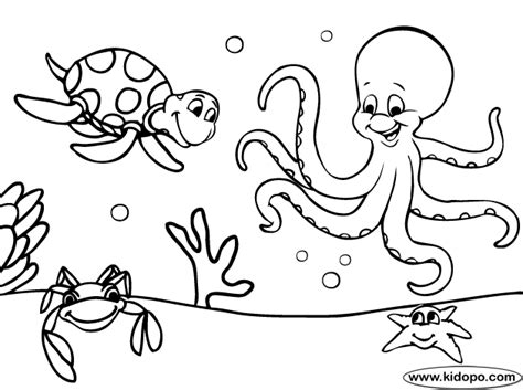 inside the sea coloring page