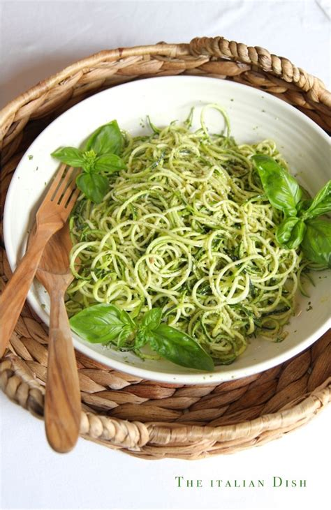 Pesto Shelf by The Italian Dish Posts Spiralized Zucchini Noodles