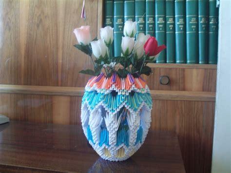 3d Origami Vases - origami vase 3d images