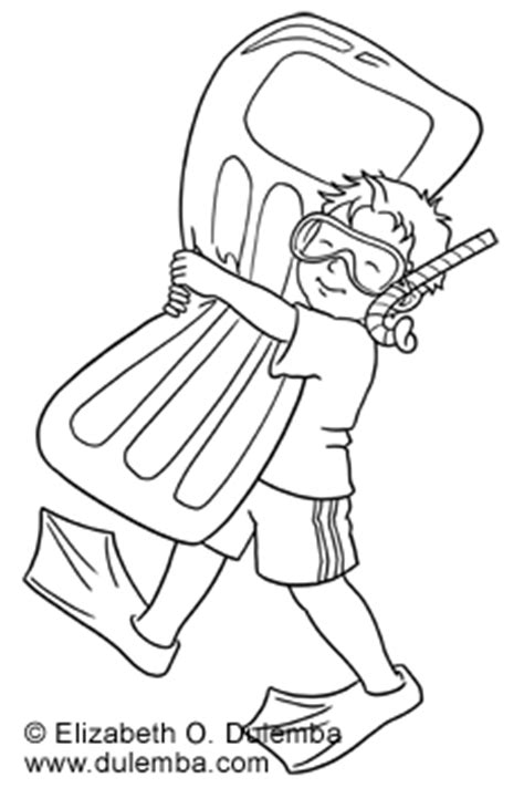 coloring page boy swimming dulemba coloring page tuesday ready to swim