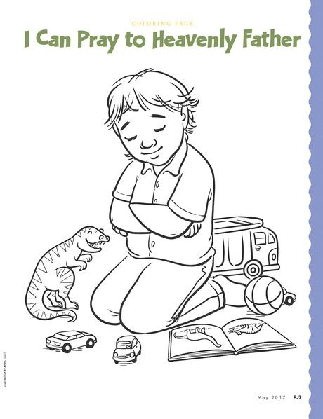 lds coloring pages praying coloring page friend