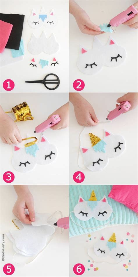 diy free no sew diy unicorn sleeping masks with free template