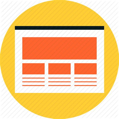 web layout icon layout page prototype site structure web webpage