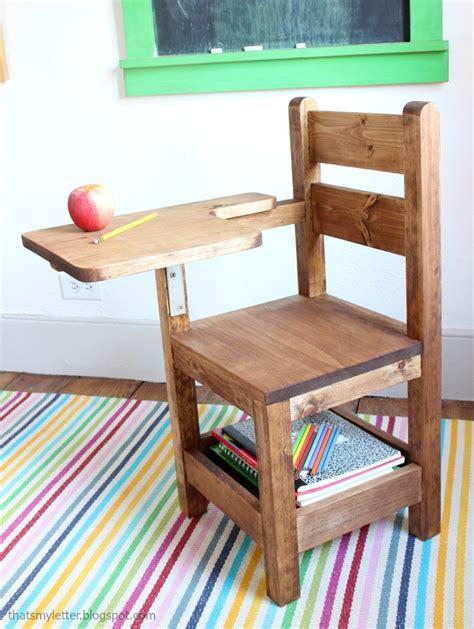 ana white schoolhouse chair  writing pad desk diy