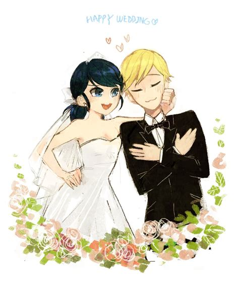 Marriage Filex Images Beckground Miraculous Ladybug Adrinette Wedding By Gamnamu On Deviantart
