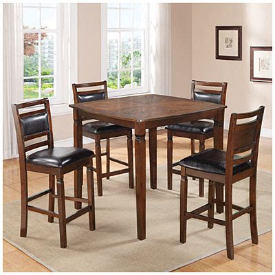 Kitchen Tables At Big Lots by 5 Wooden Pub Set With Padded Seats Big Lots