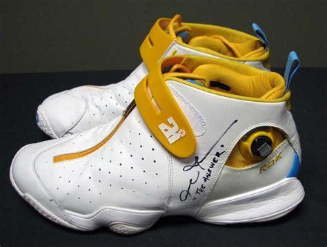 allen iverson shoes lot detail 2007 allen iverson denver nuggets used