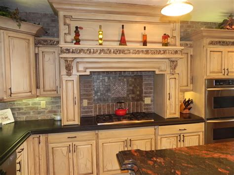tuscan kitchen cabinets tuscan style kitchen cabinet with white and wooden tone