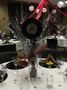 rock n roll prom table decorations prom ideas