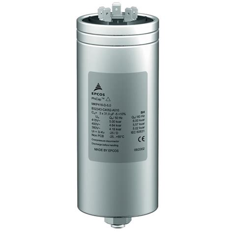 kapasitor epcos buy epcos 25 kvar phicap power capacitor at low price in india