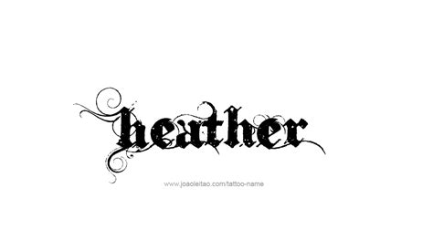 design meaning in english heather name tattoo designs middle english tattoo