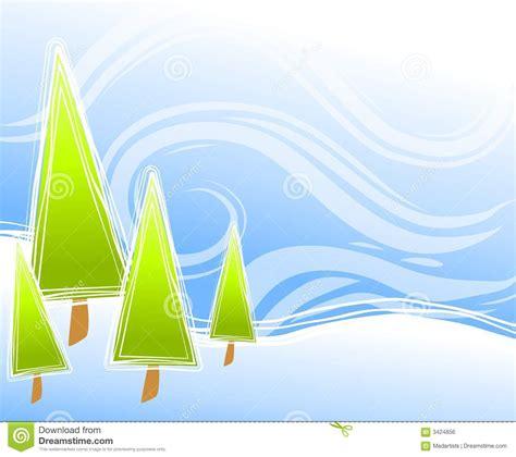 abstract christmas tree scene royalty  stock image image