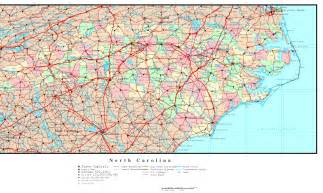 carolina state map with cities carolina political map