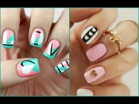 imagenes de uñas decoradas sencillaa decoraci 211 n de u 209 as bonitas y f 193 ciles nails art youtube