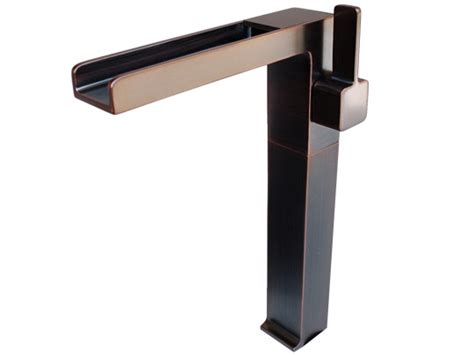vessel sink faucets rubbed bronze rubbed bronze modern cascade waterfall vessel faucet