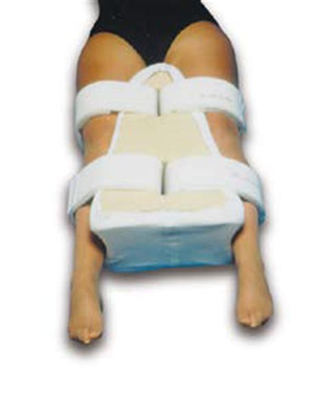 hip abduction pillow after hip surgery contoured abduction pillow with comfort band