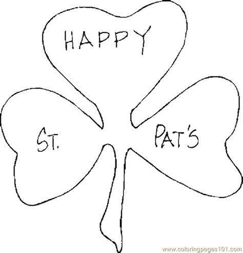 free shamrock coloring pages printable c0lor com coloring pages shamrock 24 holidays gt st patrick s day