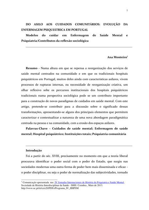 (PDF) DO ASILO AOS CUIDADOS COMUNITÁRIOS: EVOLUÇÃO DA