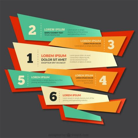 poster design vector download colorful banner with numbers vector free download