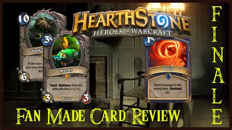 hearthstone fan made cards ft murky and yogg saron 63 fan made card review