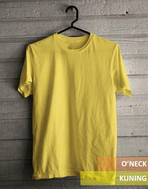 Kaos Kuning Polos jual kaos oblong o neck polos kuning kenari kualitas