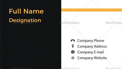 blank business card templates illustrator blank business card design template in psd word