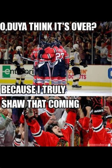 Chicago Blackhawks Memes - puns intended johnny oduya andrew shaw hockey memes