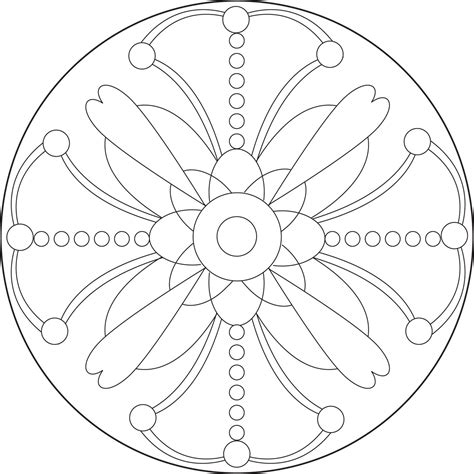 simple mandala coloring pages pdf printable mandala patterns simple mandala coloring pages