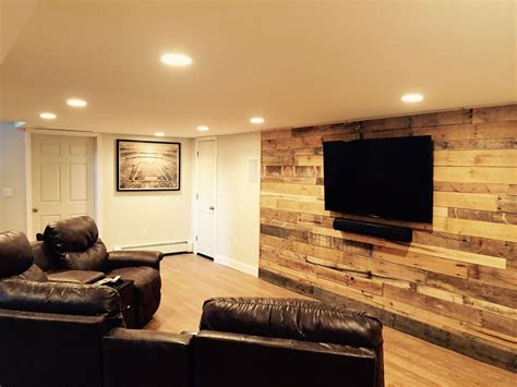 Pallet Wall In Our Finished Basement Quot Dave Cave Quot Cost 0 Finish Basement Walls