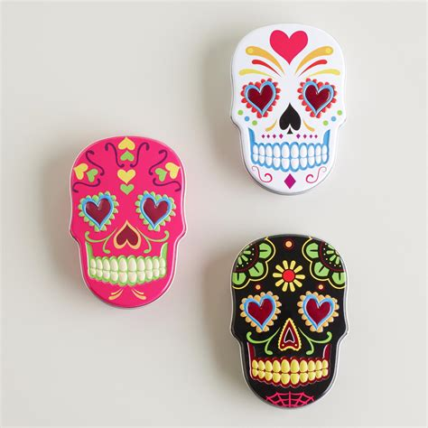 sugar skull sugar skulls tin set of 6 world market