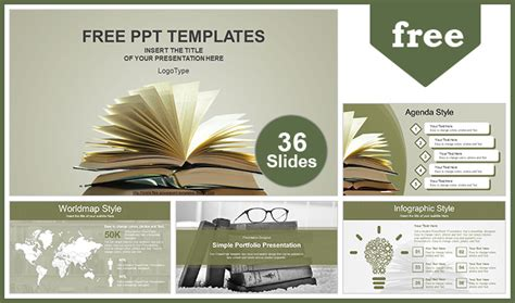 Vintage Old Books Powerpoint Template Microsoft Powerpoint Templates Vintage