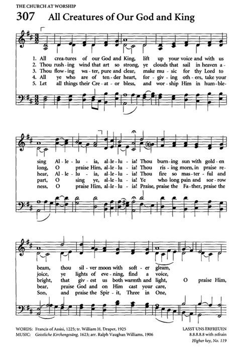 all creatures of our god and king by amy webb satb celebrating grace hymnal 307 all creatures of our god and
