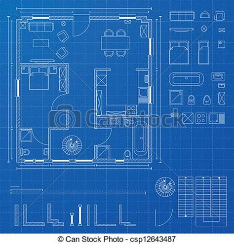 House Blueprint Maker vector of blueprint elements detailed illustration of a